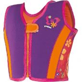 Zoggs Mermaid flower Swim Jacket Pink 100% neoprene 2-3years (15-18kgs)