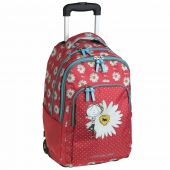 Βusquets Wheeled double packpack