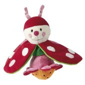 Sigikid Baby PlayQ Reversible rattle beetle/flower