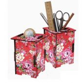 Werkhaus pencil-holder or moneybox 'Colorful flowers'