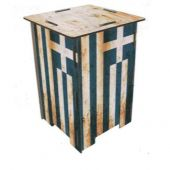 Werkhaus Stool Greek flag