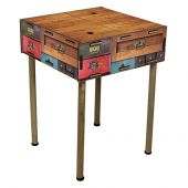 Table-drawer 15x42x42 cm with feet 75 cm