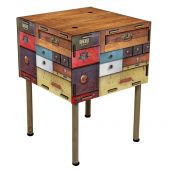 Table-drawer 28x42x42 cm with feet 75 cm