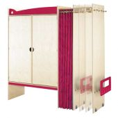Pull-out cupboard Chameleon, pink