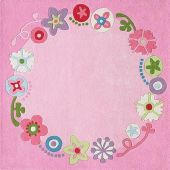 Haba Rug Floral Wreath