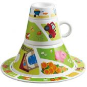 Haba Tableware tower On the Farm