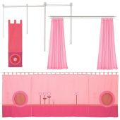 Matti Canopy Bed Conversion Kit Fabric trim pink