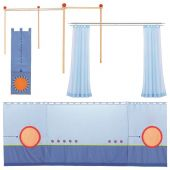 Matti Upgrade kit to canopy bed blue