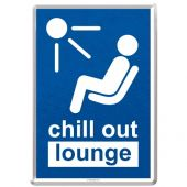 Nostalgic Μεταλλική κάρτα σε φάκελο Achtung Chill Out Lounge