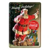 Nostalgic Metal Card Coca-Cola - Happy Holidays - Santa