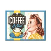 Nostalgic Magnet Say it 50's Coffee O' Clock