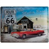 Nostalgic Μεταλλικός πίνακας 'Route 66 The Mother Road'