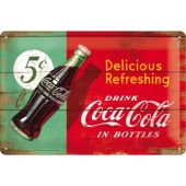 Nostalgic Μεταλλικός πίνακας Coca-Cola - Delicious Refreshing Green