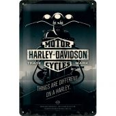 Nostalgic Μεταλλικός πίνακας Harley-Davidson Things Are Different