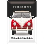 Nostalgic Μεταλλικός πίνακας Volkswagen VW - Good In Shape
