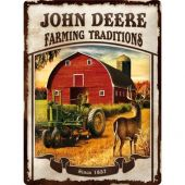 Nostalgic Μεταλλικός πίνακας John Deere Farming Traditions