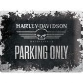 Nostalgic Μεταλλικός πίνακας 'Harley-Davidson Skull Parking Only'