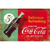 Nostalgic Μεταλλικός πίνακας 40x60 'Coca-Cola - Delicious Refreshing Green Coca-Cola'