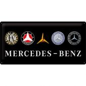 Nostalgic Μεταλλικός πίνακας Mercedes-Benz - Logo Evolution