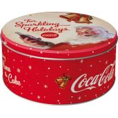 Nostalgic Tin Box Round L Coca-Cola - For Sparkling Holidays