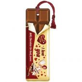 Nostalgic Metal Bookmark 5x15cm I love you Chocolate