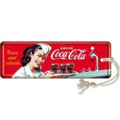 Nostalgic Metal Bookmark Coca-Cola - Waitress