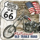 Nostalgic μεταλλικό σουβερ US Highways Route 66 Desert Old Trails Road
