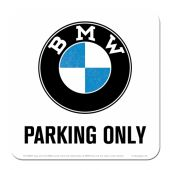 Nostalgic μεταλλικό σουβερ BMW - Parking Only White
