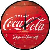 Nostalgic Ρολόι τοίχου Coca-Cola - Logo Red Refresh Yourself
