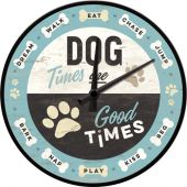 Nostalgic Wall Clock Dog Times