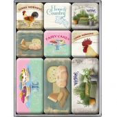 Nostalgic Magnet Set (9pcs) Home and Country Set