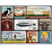 Nostalgic Magnet Set (9pcs) Animal Club Set