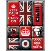 Nostalgic Magnet Set (9pcs) United Kingdom United Kingdom