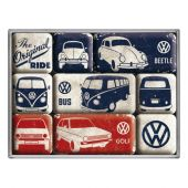 Nostalgic Magnet Set (9pcs) VW - The Original Ride