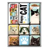 Nostalgic Magnet Set Animal Club Happy Cats
