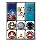 Nostalgic Magnet Set Mercedes-Benz - Logo Evolution