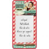 Nostalgic Magnetic Notepad Say it 50's Have A Coffee
