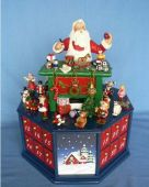 Music Box Advent 24 days Calendar Santa's Workshop