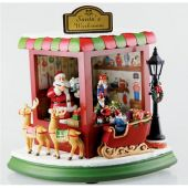 Music box 'Santa's Toy shop' 22 cm
