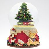 Snow globe with Christmas tree, 100 mm