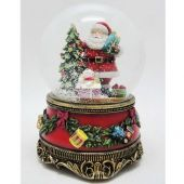 Christmas music Red snow globe Santa/tree