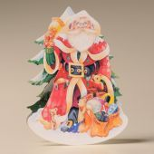Mamelok Christmas Rocker Card Father Christmas 133 x 184mm.