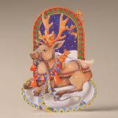 Mamelok Christmas Rocker Card Reindeer