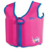 Zoggs Neoprene Swim Jacket: Fixed Foam 'Bobin Pink' Aged 4-5 years Pink