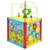 Svoora Wooden Multi-activity Cube 'Playground' with Pre-writing Exercises