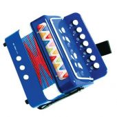 Svoora Blue Accordion with 7 Keys (14 notes)