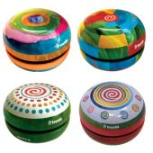 Svoora Tin Yo-Yo with Free Spin 'Fantasy' (1 display with 12 pcs, 4 designs)