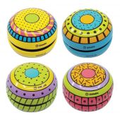 Svoora Tin Yo-Yo with Free Spin 'Funky Party' (1 display with 12 pcs, 4 designs)