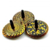 Svoora Collectable Spinning Tin Top 'Phaistos' (1 display with 12 pcs, 3 designs)