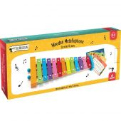 Svoora Colorful Metallophone 12 notes with Wooden Guiro